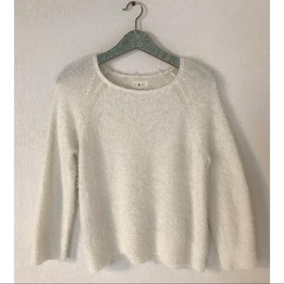 031ae7dc8a Lou   Grey Sweaters - Lou   Grey Fuzzy Eyelash Knit White Sweater